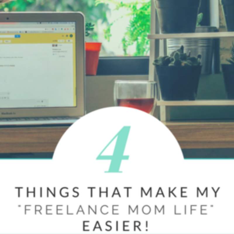 title image for freelance mom life