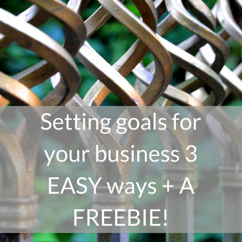 setting goals in your business